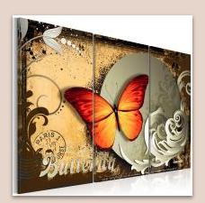 pillangós vászonkép